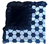 Soft and Cozy Large Minky blanket - Soccer