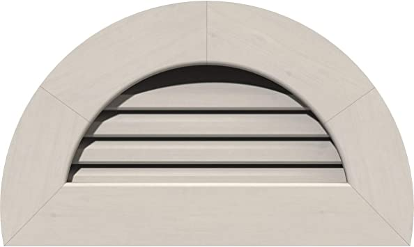 Amazon Com Ekena Millwork Gvwhr12x0601sfppi Half Round Gable Vent 17 W X 11 H Rough Opening 12 W X 06 H Pine Primed Home Improvement