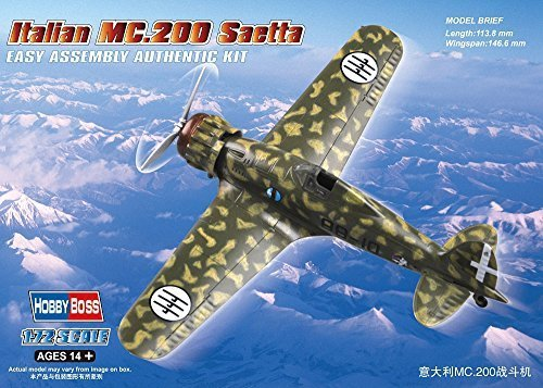 Hobbyboss 1 72 Scale Italian MC.200 Saetta Assembly Kit by Hobbyboss
