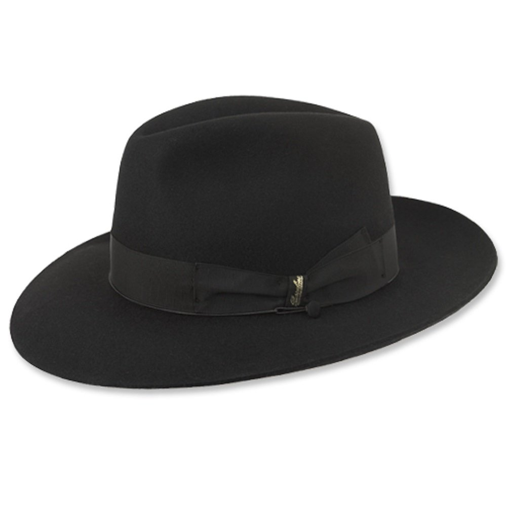 Borsalino Como Fedora-Black at Amazon Men s Clothing store  9a4694b30f5