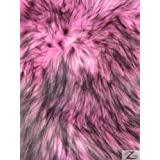 ARCTIC SHAGGY FAUX FUR FABRIC - Pink (LONG PILE) - SOLD BY THE YARD / SHAGGY