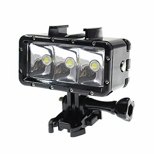 Shoot Waterproof Underwater Diving Light LED Video Night Light Rechargeable 1200mAh