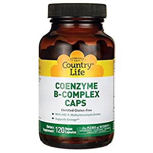 Country Life - Coenzyme B-Complex with Methylfolate - 120 Vegan Capsules