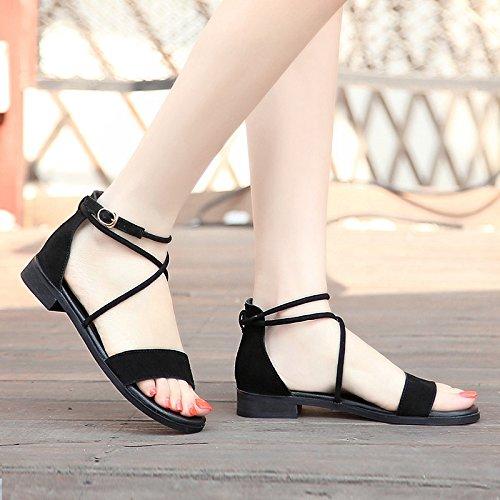 spiaggia scarpe morbido da antiscivolo toe fondo sandali estivi cinghie YMFIE casual open A moda Ladies croce comode piatto BPxBZwvq7
