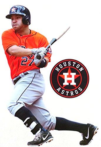 FATHEAD Jose Altuve Mini Houston Astros Logo - Official MLB Vinyl Wall Graphics 7