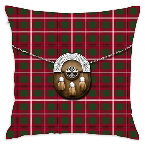 NEWcolor Throw Pillow Cover Spring Fashion Cushion Cover for Couch Clan Crawford Tartan and ()