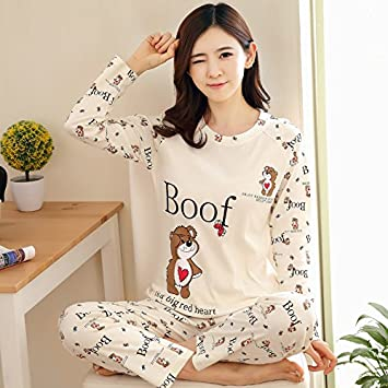Amazon.com: VaThaStore Spring Pyjamas Women Carton Cute Pijama Pattern Pajamas Set Thin Pijamas Mujer Sleepwear 90S: Kitchen & Dining