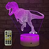 FlyonSea Dinosaur Light,Dinosaur Nihgt Light Kids 7 Colors Change Touch and Remote Control with...