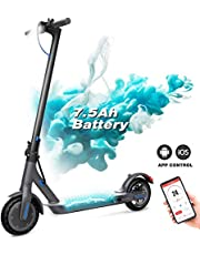 GeekMe Electric Scooter Foldable, Electric Scooter with APP/LCD display/Bluetooth/7.5A Li-Ion battery, Ultra-Light Adult Electric Scooter