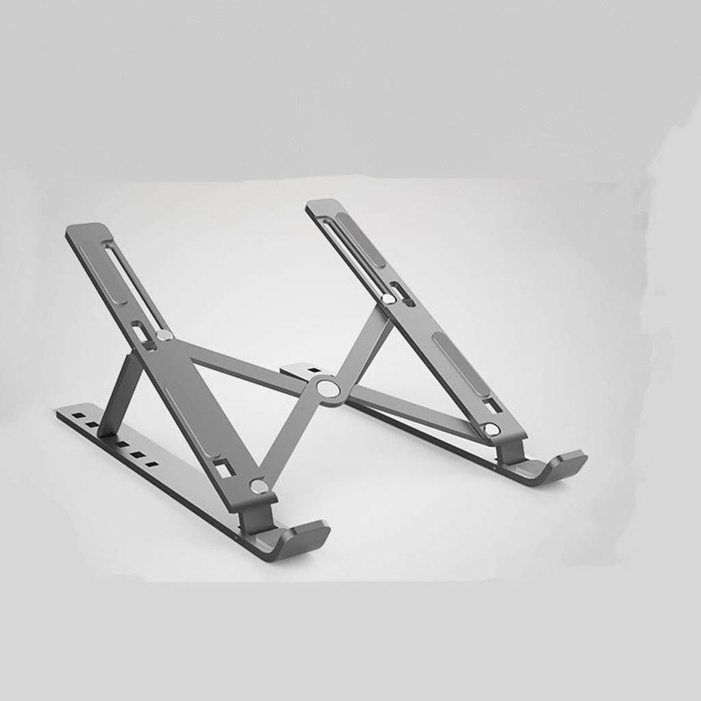 Universal Lightweight Lift Folding Portable Aluminum Alloy Mobile Base FKYGDQ Color : Silver Laptop Stand Saves Space Adjustable