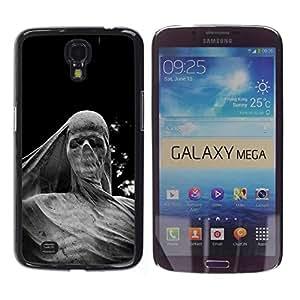 Be Good Phone Accessory // Dura Cáscara cubierta Protectora Caso Carcasa Funda de Protección para Samsung Galaxy Mega 6.3 I9200 SGH-i527 // Deep Meaning Sculpture Scull Metal