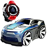 Voice-activated RC Car, CEStore 2.4GHz Smart Watch Voice Command Toy Remote Car w/ Spin Out & Demo Function, Speed Race By English Speaking, 5 Button Control Modes + 8 Voice-Activated Modes-Silver