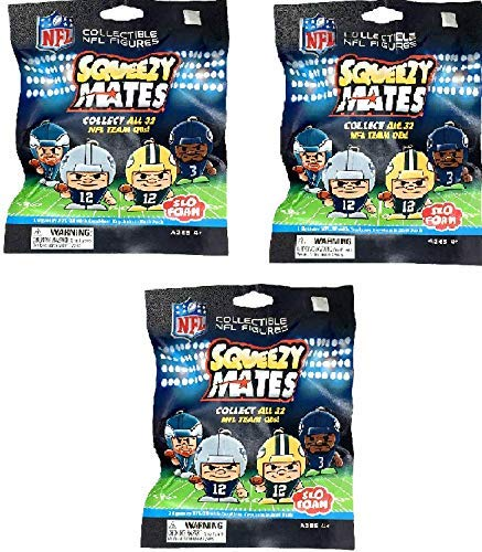 Party Animal SqueezyMates from Maker of TeenyMates 2018-19 NFL Series 1  Slo-Foam Stress Relief Squishy Slow Rising Figures Blind Bags Gift Set  Party