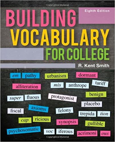 efba8f7acfec Amazon.com: Building Vocabulary for College (9780495906360): R. Kent ...