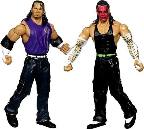 Wwe Wrestling Exclusive Action Figure 2 Pack Matt Hardy And Jeff Hardy Red Face Paint By Jakks Amazon Co Uk Toys Games