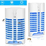 Bangbong Bug Zapper Indoor Mosquito Killer Lamp Electronic Insect Killer, Safe AC Powered Mosquito Zapper with Built in Mesh Insect Trap for Indoor Bedroom Kitchen Outdoor Garden Patio Yard Office