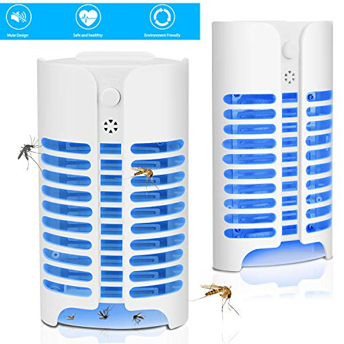 Bangbong Bug Zapper Indoor Mosquito Killer Lamp Electronic Insect Killer, Safe AC Powered Mosquito Zapper with Built in Mesh Insect Trap for Indoor Bedroom Kitchen Outdoor Garden Patio Yard Office by Bangbong