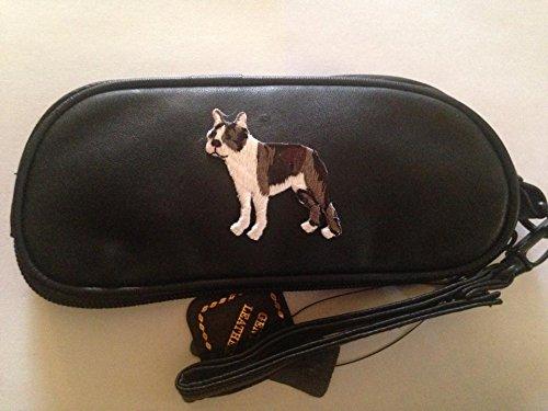 Boston Terrier Leather Eyeglass Case - Stores Boston Eyeglass