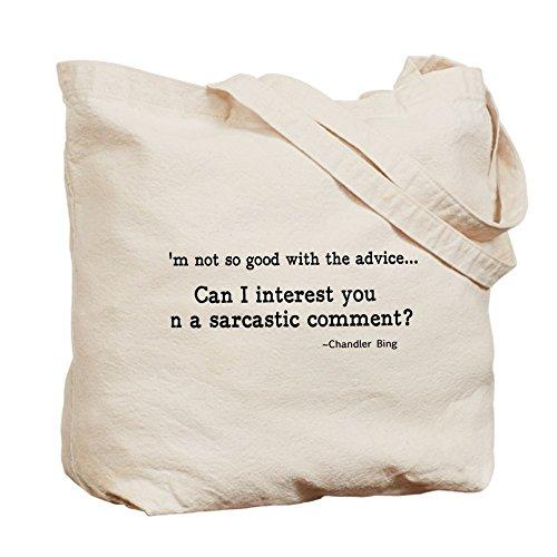 Cafepress–Sarcastic Comment '–Borsa di tela naturale, tessuto in iuta