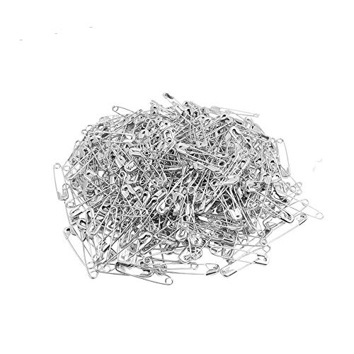 (ChooseU 1000 pcs Small Nickel Plated Safety pins wholesales for Garment Hang tag DIY Safety Pins Brooch Jewelry Accessory Colors Jewelry Accessories (28mm))