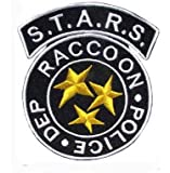 STARS Resident Evil Raccoon Iron on Patch 6.5x8cm / Embroidered Patch This Appliques Are Great for T-shirt, Hat, Jean ,Jacket, Backpacks.