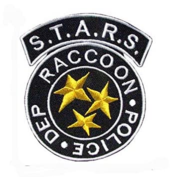 RACCON CITY POLICE DEP HOOK PATCH BLUE STARS BADGE Original Current Militaria (2001-Now) RESIDENT EVIL S.T.A.R.S
