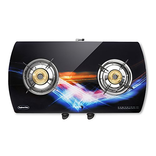 Pigeon Spark Series Oval Glitter Full Size 2 Burner Gas Stove - Exclusive Designer Series from Pigeon (STOVECRAFT)