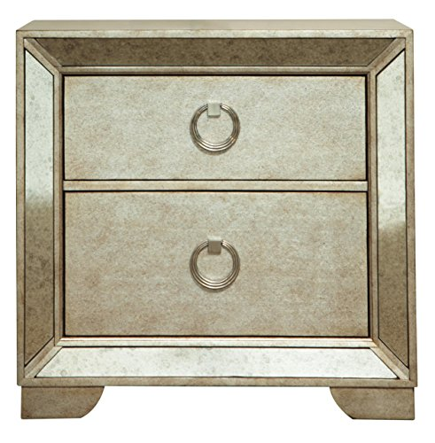 Ava Farrah Mirrored Bedroom Furniture (Nightstand) - Pulaski Furniture Bedroom Table