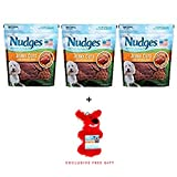 Nudges Premium Jerky Cuts Dog Treats, Roasted Duck, 18 Ounce (18 oz.(3 Pack))