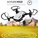 SIMREX X300C 8816 Mini Drone RC Quadcopter Foldable Altitude Hold Headless RTF 360 Degree FPV Video WiFi 720P HD Camera…