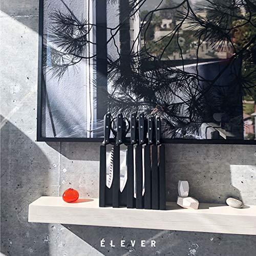 Elever Knife Set - Kitchen Knife Set with Block, 13 Kitchen Knives with Knife Sharpener, Chef Knife, Kitchen Scissors, Steak Knives. Modern Knives Kitchen Set, House Kitchen Decor, Cutlery Set Gift by Elever (Image #1)