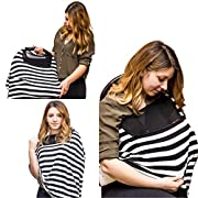 Nursing Cover Up For Breastfeeding | Multi Use Scarf Universal Fit | Car Seat Cover Canopy | Infinity Scarf | Stroller Baby Cover | Shopping cart | Poncho | High Chair Cover Patern For Boys And Girls