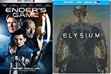 Ender's Game & ELYSIUM Steelbook Sci-Fi DVD Space Thriller Action Space Movie Set
