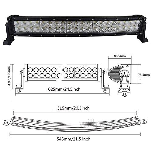 Auxtings 55,9/cm 120/W Curved LED light bar flood spot fuoristrada SUV ATV Ute Truck driving Fog Light