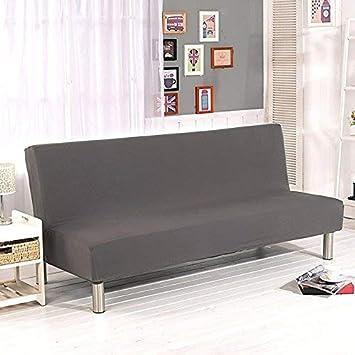 Funda de sofá sin brazos de Surenhap, para sofás de 3 plazas, funda elástica, plegable, ideal para sofá o sofacama