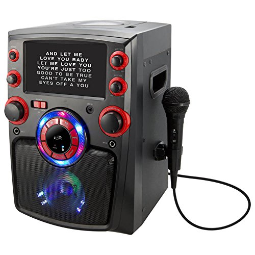 iLive Bluetooth Karaoke Machine with CD+G Player, 7 Inch Monitor, Microphone and Microphone Holder (Cd+g Karaoke Home Audio)