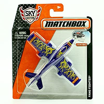 FANG FIGHTER (Purple) * MBX SKY BUSTERS * 2015 MATCHBOX Sky Busters Series Aircraft