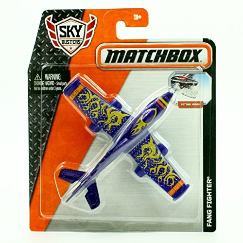 FANG FIGHTER (Purple) * MBX SKY BUSTERS * 2015 MATCHBOX Sky Busters Series Aircraft Matchbox Sky Busters