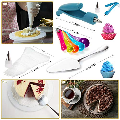 Whryspa All-in-One Cake Decorating Kit Supplies with Revolving Cake Turntable, 24 Cake Decorating Tips, for Cake Decoration Baking Tools by Whryspa (Image #6)