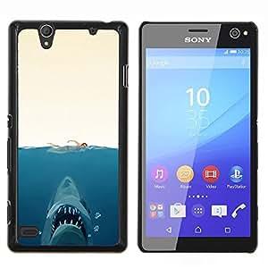 Stuss Case / Funda Carcasa protectora - Shark Attack - Gracioso - Sony Xperia C4