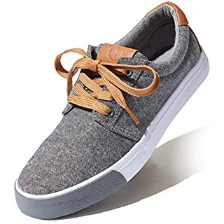 DailyShoes Unisex Flat Casual Lace Up Comfy Slip-On Walking Loafers Sneakers Shoes, Grey Denim, 9 B(M) US