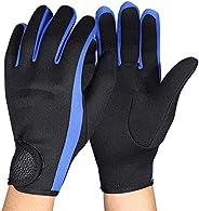Diving Gloves Neoprene Wetsuits Five Finger Gloves Anti Slip Flexible Thermal Material for Snorkeling Swimming