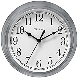 By-Westclox Decorative Clock, Westclox Simplicity Silver 9in Kitchen Wall Clock Bedroom