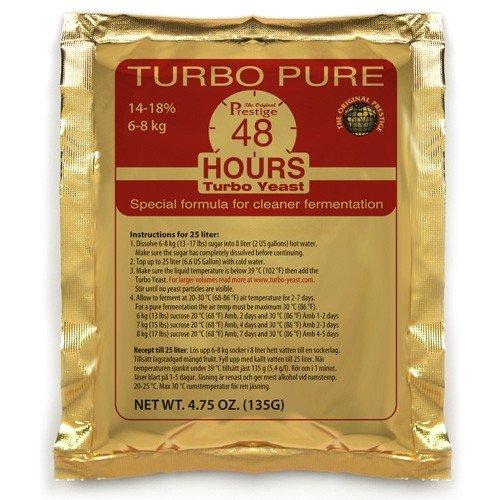 Prestige 3 x Turbo Levadura Turbo Pure 48h, 18% Alcohol En 5 días, gärhefe, Vino Levadura (3 Paquetes): Amazon.es: Hogar
