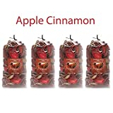Hosley Apple Cinnamon Potpourri- 16 Oz. Bonus Buy 4 Bags/4 Oz Each. Ideal for dried floral arrangements or with Orbs, Potpourri or Just As Decor