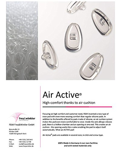 1 Pair Air Active Comfort Nose Pads High Quality German Made Push in ()