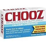 PACK OF 3 EACH CHOOZ ANTACID GUM MINT 12EA PT#6373617685
