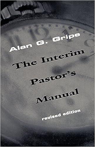 Book Interim Pastor's Manual, Revised Edition