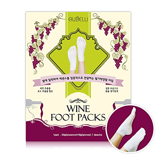 Rubelli Wine Foot Socks Packs 4 Pairs Wine Extract for Foot Moisture care