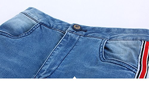 Pantaloni 7032902 cut S Straight Maniche Tasche Sottile Uk Donna Da Azzurro Senza In Jeans Mena Cinture Taglio xxxl a45BwnH